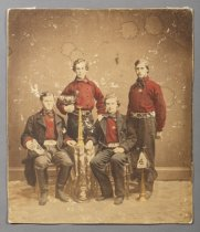Image of Disosway brothers as members of Zephyr Hose Co. No. 4, ca. 1865