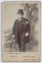 Image of [Portrait of Sheriff Benjamin Brown] - Print, Photographic