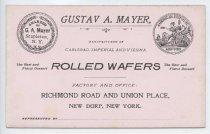 Image of Gustav A. Mayer card (MS044.002, folder 7.15)