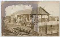 Image of Ocean Breeze Station Old Trolley Line 1900 - Print, Photographic