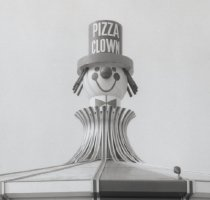 Image of Pizza Clown (detail), photo by Herbert A. Flamm