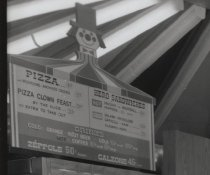 Image of Pizza Clown interior (detail), photo by Herbert A. Flamm