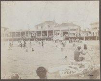 Image of [Walch's Bathing Pavilion, South Beach, Staten Island] - Print, Photographic
