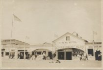 Image of Eureka Hotel and Schreiber's Hotel, South Beach, ca. 1905-1915
