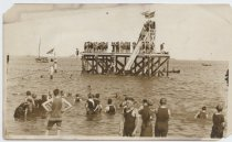 Image of Water slide at South Beach, Staten Island, ca. 1905-1915