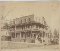 Image of Max Geldner's New Dorp Hotel, ca. 1895-1900