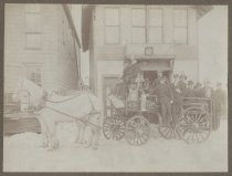 Image of [Cataract Engine Company No. 2 fire wagon] - Print, Photographic