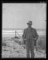 Image of [Peter Austen on the beach] - Negative, Glass-plate