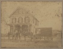Image of T.D. Price Groceries delivery wagon, ca. 1890-1910
