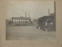 Image of [Trolley at the St. George Ferry] - Print, Photographic