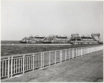 Image of [69th Street Ferry, Brooklyn Terminal, three ferries in slips] - Print, Photographic