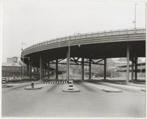Image of [69th Street Ferry, St. George Terminal, waiting lanes for cars] - Print, Photographic