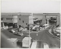 Image of [69th Street Ferry, St. George Terminal, ferry boats loading and arriving] - Print, Photographic