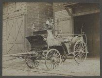 Image of Cataract Engine Company No. 2 fire wagon, ca. 1895