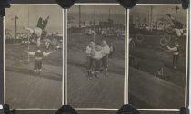 Image of Acrobats, clowns, and jugglers at Midland Beach, 1924