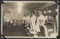 Image of Barbershop interior, Midland Beach, 1924
