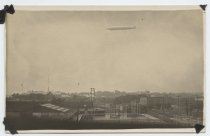 Image of Zeppelin flying over swimming pool,  Midland Beach, 1924