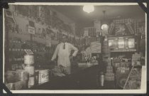 Image of Interior of a grocery store, Midland Beach, 1924