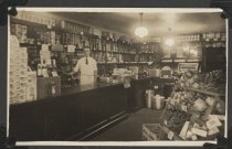 Image of Interior view of a grocery store, Midland Beach, 1924