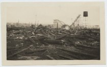 Image of Midland Beach roller coaster after fire, 1924