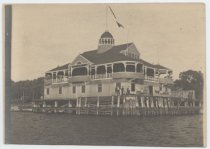 Image of [Staten Island Athletic Club boathouse] - Print, Photographic