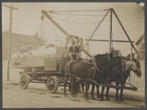 Image of C.W. Hunt Company wagon, ca. 1890-1910