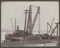 Image of [Shipping at pier, C.W. Hunt Company] - Print, Photographic