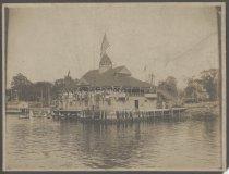 Image of [Staten Island Athletic Club boathouse] - Print, Photographic
