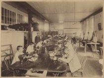 Image of [Mount Loretto tailor shop interior] - Print, Photographic