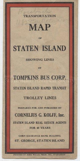 Transportation Map of Staten Island - Transportation Collection on