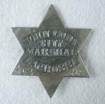 Image of Badge, Law Enforcement - 1991.075.09