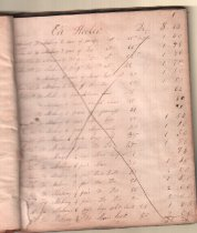"""Image of Shoemaker's Records.  Inscribed: """"Jacob Webster's, 1843, Book, Lewisboro"""".  Newspaper Obituary Included.  51 Pp"""