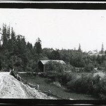 """Image of Print, Photographic - Copies: 1 ( 1 copy)   """"Covered bridge west of Donald"""" (back)"""