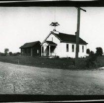 "Image of Print, Photographic - Copies: 2 ( 2 copies)   ""Eldriedge School house French Prairie  15 Sept. 1912"" (back of both copies)"
