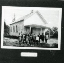 "Image of Print, Photographic - Copies: 1 ( 1 copy)   ""4 corner School"" (front of image)  ""4 Corner School"" (back)"