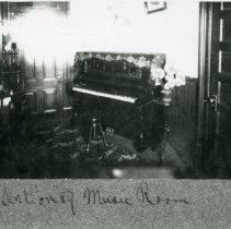 """Image of Print, Photographic - Copies: 1 ( 1 copy)   """"Section of Music Room"""" (front of image)"""