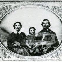 """Image of Print, Photographic - Copies: 3 ( 3 copies)   """"Alexander Pambrun Anqelique Black (Pambrun) Harriet Emily Pambrun"""" (back of one copy)  """"Alexander Pambrun  Angelique Black Harriet Emelie (Druchet)"""" (back of two copies)"""