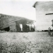 """Image of Print, Photographic - Copies: 1 ( 1 copy)   """"Waldo log cabin built 1843 _ _cture 1930 Log Cabing Macleay, Ore.  Judge Waldo's home first court hse in Terrirtory"""" (back)"""