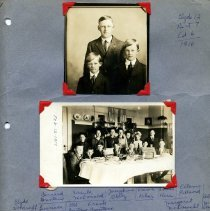Image of Print, Photographic - Copies: 1 ( 1 scrapbook page with 5 photographs)