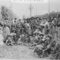 """Image of Print, Photographic - Copies: 1 ( 1 copy)  """"1904 - at 'Mission Farm', John McKay owner"""" (front)  John McKay Farm Mission Bottom, 1904"""" (back)"""