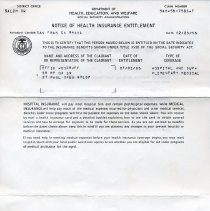 Image of Print, Photographic - Copies: 1 ( 1 original health insurance entitlement with associated envelope)