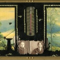 Image of Print, Photographic - Copies: 1 (1 original picture frame with two photographs)