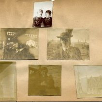Image of Print, Photographic - Copies: 1 (1 original scrapbook page with 6 photographs)
