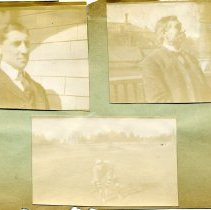 Image of Print, Photographic - Copies: 1 (1 original scrapbook page with 3 photographs)