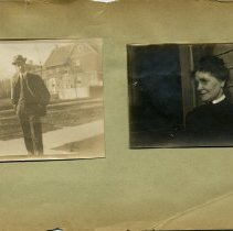 Image of Print, Photographic - Copies: 1 (1 original scrapbook page with 2 photographs)