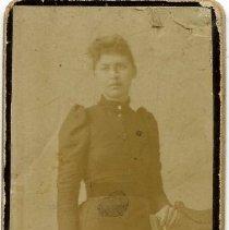 "Image of Print, Photographic - Copies: 2 (1 original, 1 copy)  ""Marcy Chalifoux Long"" (back of original)"