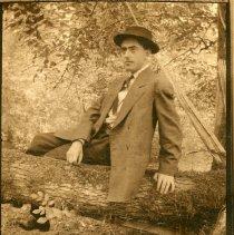"Image of Print, Photographic - Copies:1 (1 original on postcard)   ""John A Gearin St Paul Ore Taplin at Newport Ore"" (back)"