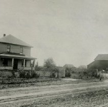 """Image of Print, Photographic - Copies:  1 (1 copy)  """"Ed. Goffin home 1 mile South of St. Louis, Or. This is second house on place, built in 1912 after first house burned."""" (back)"""