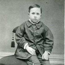 "Image of Print, Photographic - Copies:  1 ( 1 copy)  ""Jerome Richard Jackson born July 24, 1872"" (back)"