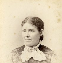 "Image of Print, Photographic - Copies: 2 (1 original, 1 copy)  ""Mary McKay"" (back of original)   ""Mary McKay I dau of James and Cecilia McKay"" (back of copy)"